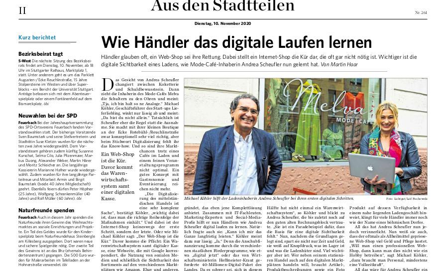 Stuttgarter Zeitung vom 10. November 2020