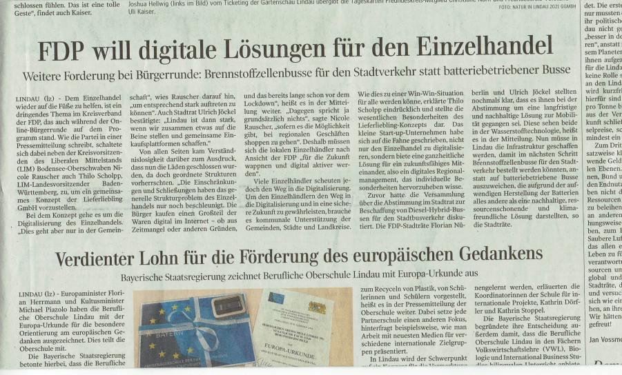 Lindauer Zeitung vom 29. Dezember 2020